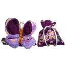 にほひ袋とつまみ細工飾り 紫