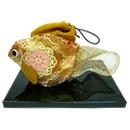 琳派京織金魚(正絹)